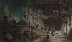 Nightly Round   Carl Spitzweg   Oil Painting