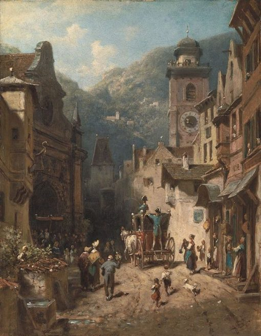 A Visit by Countryfolk | Carl Spitzweg | Oil Painting