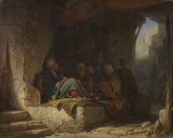 Turks in a Cafe | Carl Spitzweg | Oil Painting