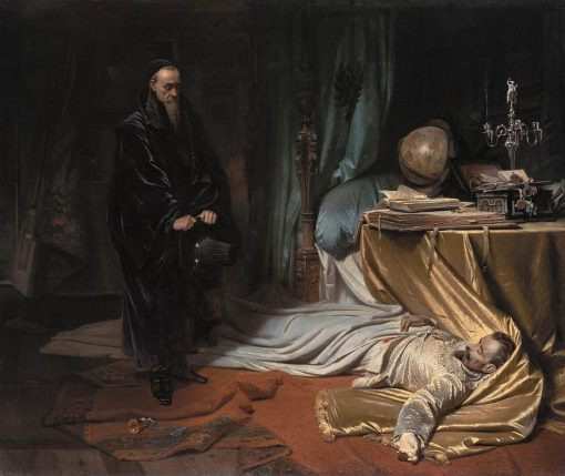 Seni in front of Wallenstein's Body | Carl Theodor von Piloty | Oil Painting