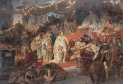Thusnelda in the Triumphal Procession of Germanicus | Carl Theodor von Piloty | Oil Painting