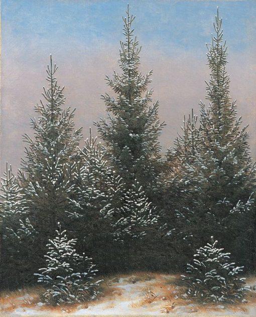 Fichtendickicht in the Snow (From the Dresdner Heide I) | Caspar David Friedrich | Oil Painting