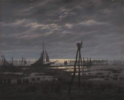 A Swampy Beach | Caspar David Friedrich | Oil Painting