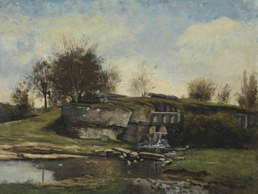 Sluice in the Valley of Optevoz | Charles Francois Daubigny | Oil Painting