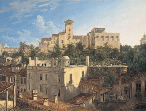 Villa Malta in Rome | Domenico Quaglio the Younger | Oil Painting