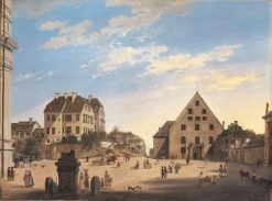 The Old Riding School with the Café Tambosi in 1822 | Domenico Quaglio the Younger | Oil Painting