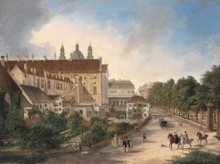 The North Side of the Royal Residence in 1828 | Domenico Quaglio the Younger | Oil Painting
