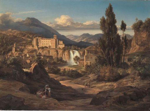Waterfalls of the Liris near Isola del Liri | Ernst Fries | Oil Painting