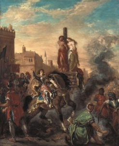 Clorinde Free Olindo and Sophronia | Eugene Delacroix | Oil Painting