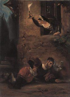 Dying Valentin | Eugene Delacroix | Oil Painting