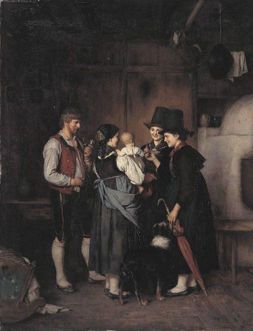 The Visit | Franz von Defregger | Oil Painting