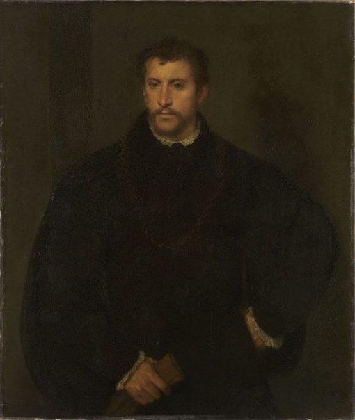 Portrait of a Young Man (after Titian) | Franz von Lenbach | Oil Painting