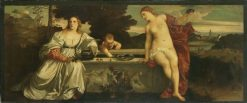 Heavenly and Earthly Love (after Titian) | Franz von Lenbach | Oil Painting