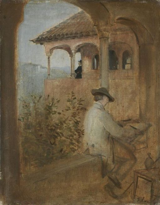 The Tocador de la Reina on the Alhambra in Granada | Franz von Lenbach | Oil Painting