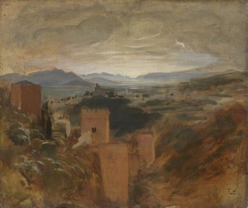 The Vega of Granada   Franz von Lenbach   Oil Painting