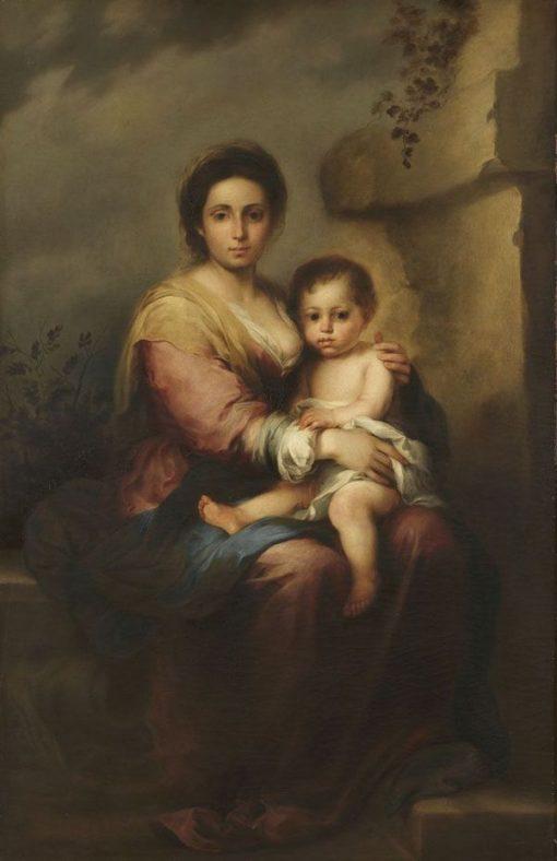 Madonna (after Murillo) | Franz von Lenbach | Oil Painting