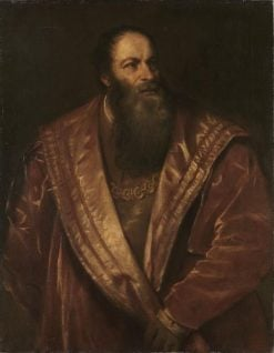 Pietro Aretino (after Titian) | Franz von Lenbach | Oil Painting