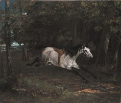 Racing Horse | Gustave Courbet | Oil Painting