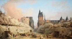 The Demolition of Houses on the Pont au Change | Hubert Robert | Oil Painting