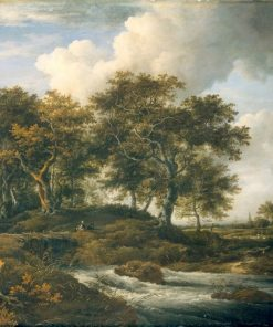 Torrent with Oak Trees | Jacob van Ruisdael | Oil Painting