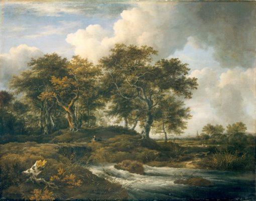 Torrent with Oak Trees | Jacob van Ruisdael | Oil Painting