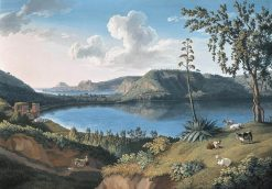 View of Lake Averno | Jakob Philipp Hackert | Oil Painting