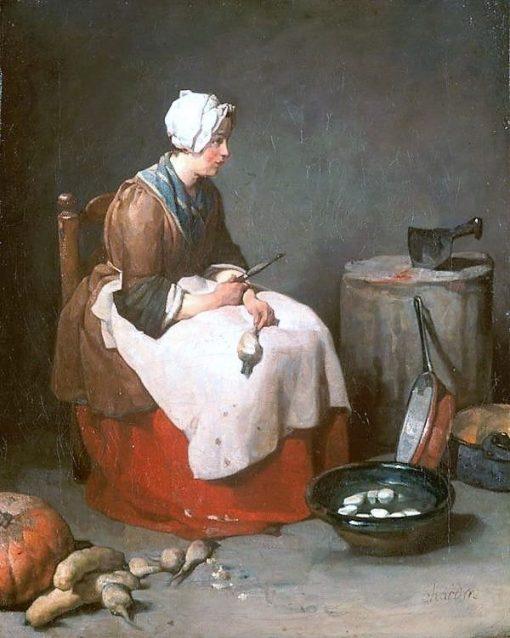 The Potato Peeler   Jean Baptiste Simeon Chardin   Oil Painting