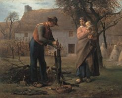 Peasant Grafting a Tree   Jean Francois Millet   Oil Painting