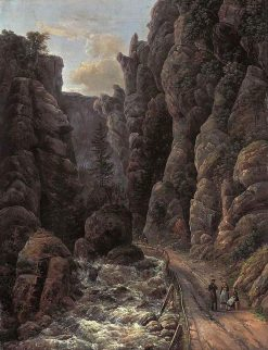 Gorge in Saxon Switzerland | Johan Christian Claussen Dahl | Oil Painting