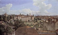 View of Rome to the East from Villa Malta | Johann Christian Reinhart | Oil Painting