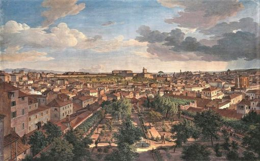 View of Rome to the South from Villa Malta | Johann Christian Reinhart | Oil Painting
