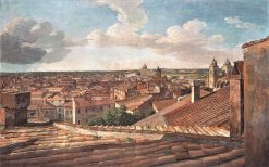View of Rome to the West from Villa Malta | Johann Christian Reinhart | Oil Painting