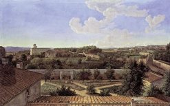 View of Rome to the North from the Villa Malta | Johann Christian Reinhart | Oil Painting