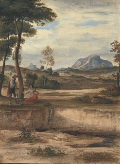 Landscape with Socrates | Johann Heinrich Ferdinand Olivier | Oil Painting