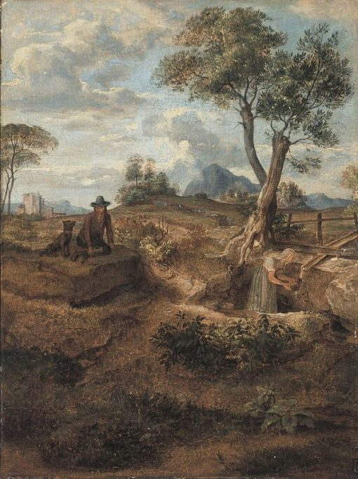 Watering Place in the Countryside | Johann Heinrich Ferdinand Olivier | Oil Painting