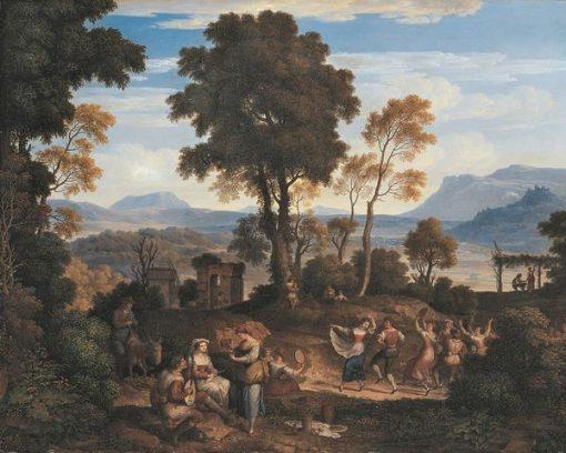 Wine Festival at Olevano | Joseph Anton Koch | Oil Painting