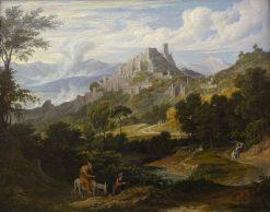 Olevano with Monk on Horseback | Joseph Anton Koch | Oil Painting
