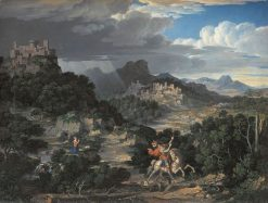 Heroic Landscape with Saint George | Joseph Anton Koch | Oil Painting