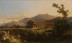 The Temple of Poseidon at Paestum | Jules Coignet | Oil Painting