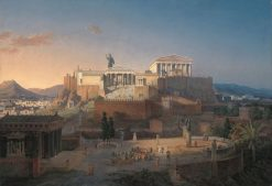 Idealised View of the Acropolis in Athens   Leo von Klenze   Oil Painting