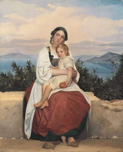 Procidan with her Child | LEopold Robert | Oil Painting