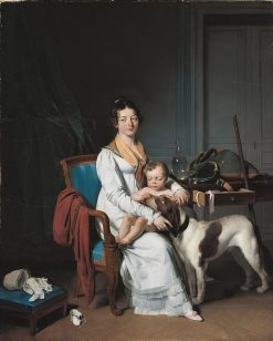Interior with Mother and Child | Louis LEopold Boilly | Oil Painting