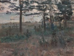 Fishermen's Cemetery in Nidden on the Kurische Nehrung | Lovis Corinth | Oil Painting