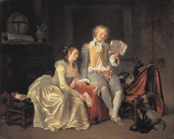 Reading for Pleasure   Marguerite GErard   Oil Painting
