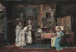 Visit to a Pregnant Woman | Mihaly Munkacsy | Oil Painting