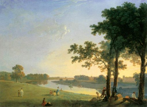 View of Syon House across the Thames near Kew Gardens | Richard Wilson