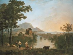 Wide Southern Coastal Landscape in the Evening | Richard Wilson