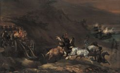 Approaching Artillery | ThEodore GEricault | Oil Painting
