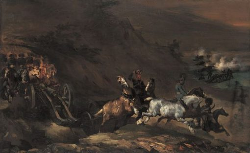 Approaching Artillery   ThEodore GEricault   Oil Painting