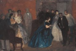 Reception for the Blue Lady | Wilhelm Lindenschmit | Oil Painting